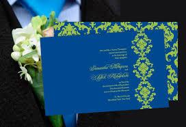color monday damask elegance wedding invitationtruly engaging Wedding Invitation Blue And Green Wedding Invitation Blue And Green #30 wedding invitation blue green motif
