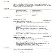 This Is Security Guard Resume Security Guard Resume Sample Security ...