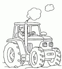 Landbouw Tractor Kleurplaten Kleurplaten Voor Kids Tekening Van