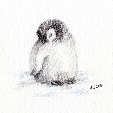 baby penguin drawing in pencil. Fine Penguin Realistic Baby Penguin Drawing  Photo15 And Baby Penguin Drawing In Pencil