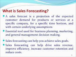 What Is A Sales Forecast Sales Forecasting 1