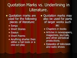 "quotation marks in essays title of essay in quotation marks  quotations"" by krystal searcy amp james rocker what is a quotation quotation marks vs underlining"