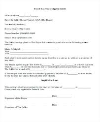 Motor Vehicle Sale Agreement Used Car Sales Agreement Pdf Sale Contract Template Altwell Co