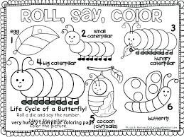 Hungry Caterpillar Coloring Pages Butterfly Coloring Pages For Very