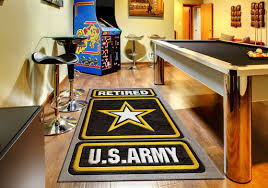 us army retired logo rug