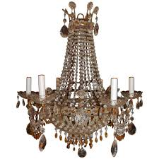 italian chandelier with clear and amber crystal drops beads adorable ideas