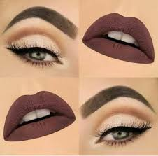 dark chocolate lips with neutral eyes to get pepped up for party
