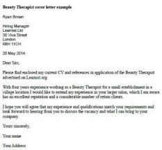 psychologist cover letter brilliant ideas of beauty therapist cover letter example learnist