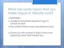 Political Argumentative Essay Topics
