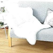 oversized faux sheepskin rug throw astounding fur carpet in white blanket area 4x6 she