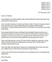 Sample Cover Letter For Cabin Crew Flight Attendant Cover Letter