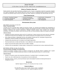 Financial Analyst Resume Format Recent Simple Finance Resume