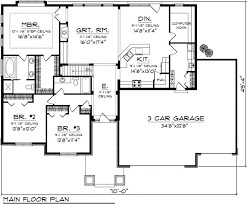 Ranch Floor Plans Without Dining Room  Floor Plans For Ranch House Plans Ranch