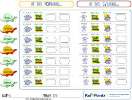 Healthy Daily Routine Chart Charts For Kids Collection 25