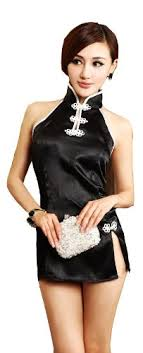 Ladies Sexy Fancy Chinese Cheongsam Dress Costume / ADULT WOMENS Night Wear  See Through Bedroom