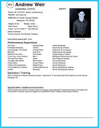 Comprehensive Resume Template Actors Resume Template Resume Example Acting Resume Templates 34