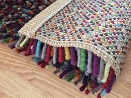 ikea orsted wool rug high pile multicolour