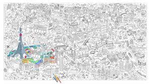 Poster Colorier Xxl Paris 180 X 100 Cm Paris Omy Design Play