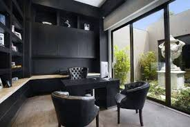modern home office. Black Cabinets And Desk Modern Home Office Modern Home Office