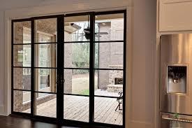 photos of sliding glass door off track