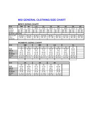 Clothing Size Chart 6 Free Templates In Pdf Word Excel
