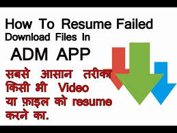 How To Resume Failed Download Adm App Downloader Youtube