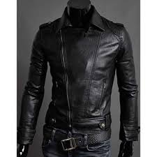 mens faux leather moto jacket biker slim fit jacket men with regard to black leather