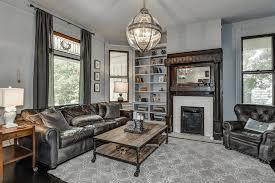 Masculine gray living room