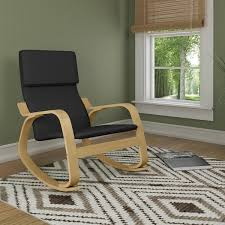 contemporary rocking chair. CorLiving Aquios Bentwood Contemporary Rocking Chair