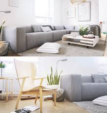 Lounge Chairs For Living Room Scandinavian Living Room Lounge Chair Wood Grey Sofa White Pillow