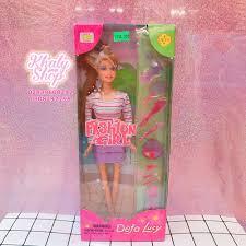 Bộ đồ chơi Búp bê Barbie áo sọc trang điểm dành cho trẻ em và bé ...