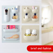 office hanging organizer. Bathroom Storage Rack Self Adhesive Wall Hanging Kitchen Organizer Container Holder Shower Home Office Key Soap Dish New-in Racks \u0026 Holders From B