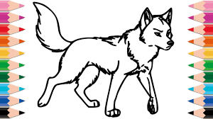 How To Draw Wolf Coloring Pages For Kids Drawing Animals Learn