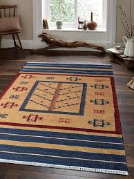 rugsotic carpets hand woven flat weave kilim wool area rug contemporary multi southwestern area rugs by get my rugs llc