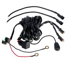 light bar accessories led light wiring harness switch and relay dual output dt connector