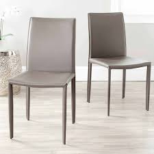 Dining Chairs Chic Gray Leather Dining Chairs Images Gray Dining