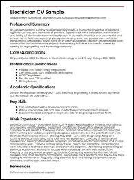 Electrician Cv Magdalene Project Org
