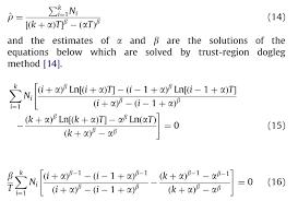 statistics solving simultaneous equations for weibull  enter image description here