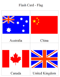 Flag Flash Card | Free Flag Flash Card Templates