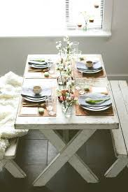 kitchen picnic table rustic shabby chic farm inspired table with benches and fur kitchen table picnic bench style