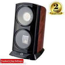 watch winder time tutelary ka015 tower dual automatic watch winder for 2 watches in burl