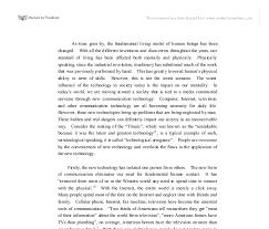 english essay about modern technology modern technology essay majortests