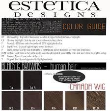 Wig Color Chart Codes Estetica Designs Wig Color Charts