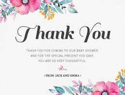 Thank You Cards Baby Shower Unsere Blueme Dp Pregnancy Announcements
