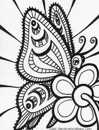 Adult Free Butterfly Coloring Pages Free Butterfly Coloring Pages