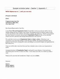Invitation Letter Format For Visa Fresh Formal To Minister Make My