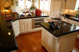 Dark Granite Kitchen Countertops Black Granite Countertops Kitchen With Brown Cabinets And Light
