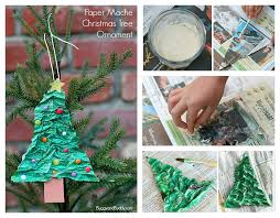 YarnWrapped Christmas Tree Craft Stick Ornaments  Onion Rings Christmas Tree Ornament Crafts