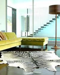 black hide rug zebra print cowhide on white and rugs uk