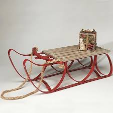 large wooden sleigh vintage sled decoration decorating old wooden home improvement shows on